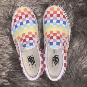 Kids Vans Rainbow Checkered Size 3.5 for Sale in Miami, FL