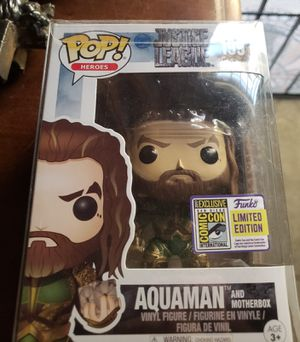 Aquaman funko pop figure toy comic con for Sale in Bell, CA
