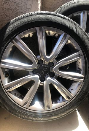 "2012-2018 Audi A4 A5 A6 Rims 18"" w/ Continental Tires for Sale in Las Vegas, NV"