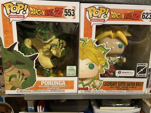 Dragon ball z Funko pops porunga and broly for Sale in Austin, TX