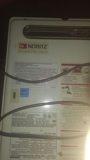 Noritz Always Hot Automatic Instantaneous Hot Water Heater NR71-OD for Sale in San Diego, CA