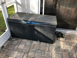 outdoor deck box / storage container pool supplies for Sale in Tampa, FL