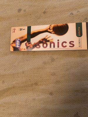 Sonics Playoff Tickets 1998-99 Full Book of 15 Tickets Never torn out of book for Sale in Seattle, WA