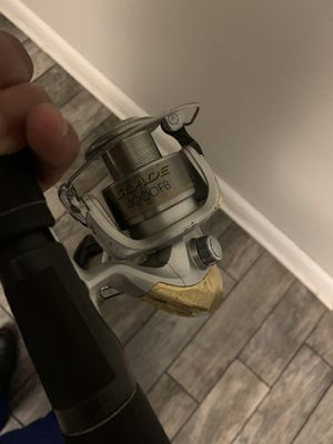 Shimano Slade 4000 Fishing Reel and Rod Combo for Sale in Tampa, FL