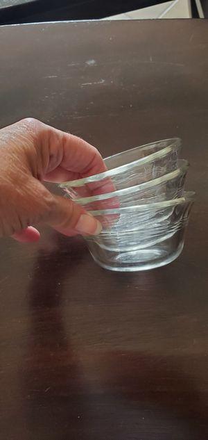 3 Pyrex glass dishes 6 oz., vintage for Sale in Oceanside, CA