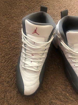 Jordan 12s white gym dark red greys for Sale in Washington, DC