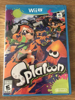 Nintendo Wii U Splatoon for Sale in Manassas, VA