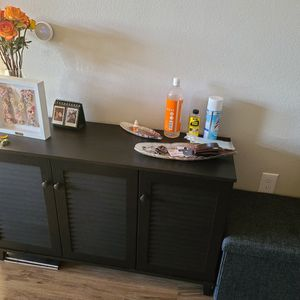 Shoe Cabinet / Storage / Rack (Espresso Wood) for Sale in Spring, TX