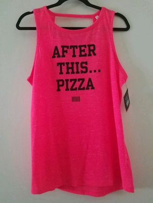 """VS """"After This...Pizza"""" tank. sz L. NEW for Sale in Hacienda Heights, CA"""