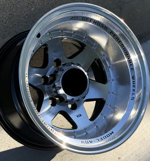 Brand new 15x10 -44 offset off-road truck wheels polished black wheels 6x139 all 4 READ DESCRIPTION! PRICE FIRM! for Sale in Los Angeles, CA