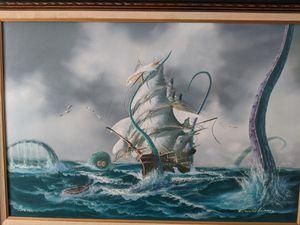 Spongebob Seascape Oil Painting for Sale in Millersville, MD