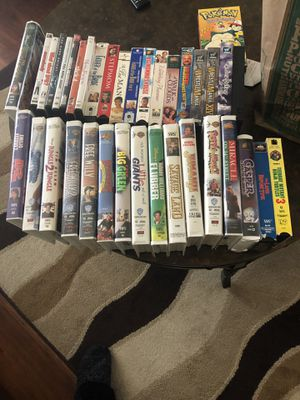 VHS AND DVD Disney movies 2.00 each or 10.00 for all and movies for Sale in Montclair, CA