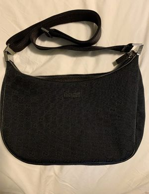Gucci GG pattern black canvas shoulder bag for Sale in Costa Mesa, CA