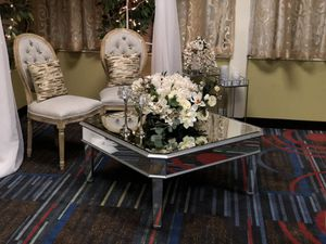 Mirrored silver coffee table for Sale in Nashville, TN