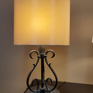 HEAVY METAL TABLE LAMP - price WITH harp & shade; can also buy WITHOUT harp & shade for lower price - firm prices. for Sale in Arlington, VA