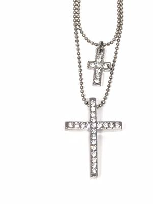 NEW Cookie Lee Double Crystal Cross Necklace for Sale in Trenton, MI