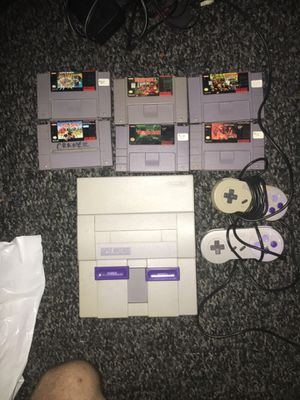 Super Nintendo with 6 games for Sale in Nashville, TN