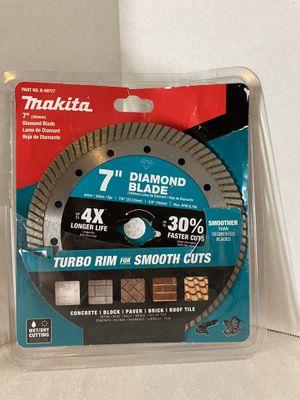 Makita 7 in. Turbo Rim Diamond Blade for General Purpose for Sale in Littlerock, CA