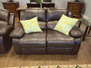 Brown Leather Reclining Couches for Sale in Escondido, CA