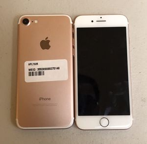 SALE: Unlocked iPhone 7 32gb Used Rose Gold Excellent Condition for Sale in Royal Oak, MI