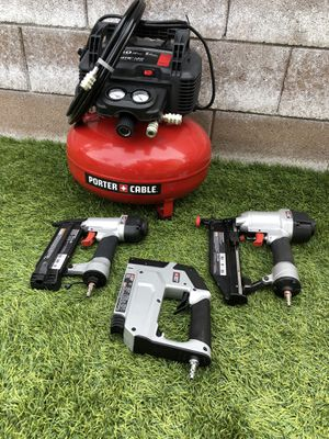 Porter Cable Air compressor and nailer kit. for Sale in Fontana, CA