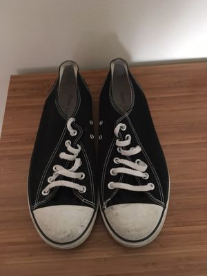 Black converse style mens shoes size 10 for Sale in North Salt Lake, UT