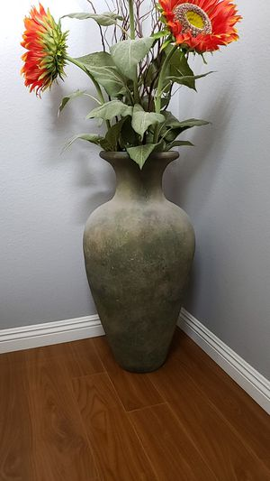 Vase with artificial flowers included for Sale in Torrance, CA