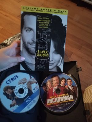 Cyrus & anchorman & silver livings playbook dvd for Sale in Philadelphia, PA