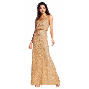 Adrianna Papell Gold Beaded Bridesmaid Dress for Sale in Austin, TX