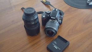 Nikon D5100 and lense. Also an additional lense and charger. I believe are nonfunctional? for Sale in Haltom City, TX