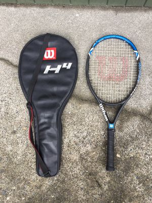 Wilson Hyper Hammer 4.3 tennis racket with bag for Sale in Seattle, WA