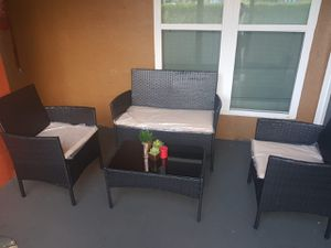 Brand new outdoor patio furniture set with table and cushions for Sale in Orlando, FL