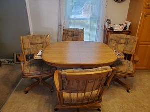 Solid Wood Kitchen Table for Sale in Indianapolis, IN