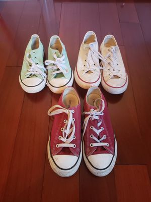 Lot of Converse girl shoes size 2/3 for Sale in Smyrna, GA