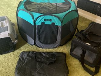 Small Dog Carriers Crate And Playpen for Sale in Riverdale,  GA