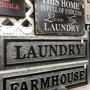 """Brand New Metal Laundry Sign (Dimensions: 36""""x10"""") for Sale in North Las Vegas, NV"""