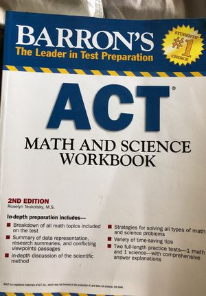 ACT Math and Science Workbook for Sale in Kirkland, WA