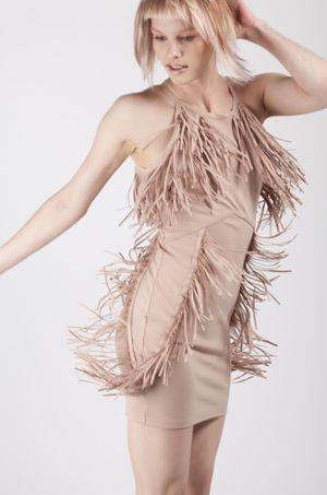 Nude Bodycon Fringe Dress for Sale in Atlanta, GA
