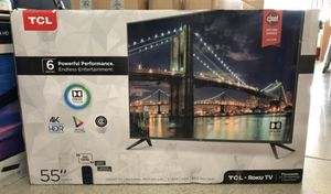 "55"" TcL roku smart 4K led uhd hdr 120hz tv for Sale in Chula Vista, CA"
