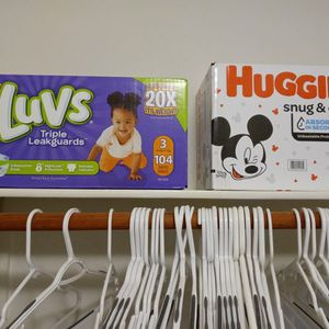 Luvs And Huggies Diapers. Size 2 And 3 for Sale in Las Vegas, NV