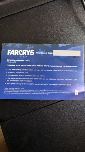 FARCRY5 Full game PC code for Sale in San Diego, CA