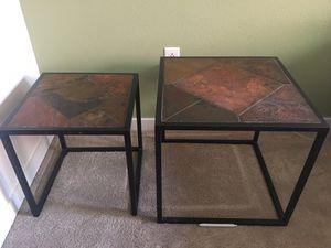 Slate tile end tables for Sale in Denver, CO
