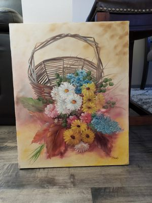 """Original Oil Painting on Canvas of a Flowers signed: by J Bond 16"""" x 20"""" for Sale in Auburn, WA"""
