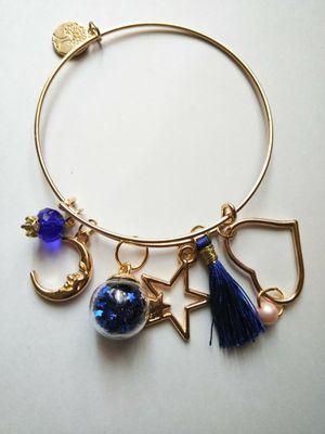 Midnight Blue Velvet Gold Bracelet. for Sale in Newark, NJ
