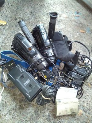 Video cassette recording cameras...as is take all!! for Sale in Stockton, CA