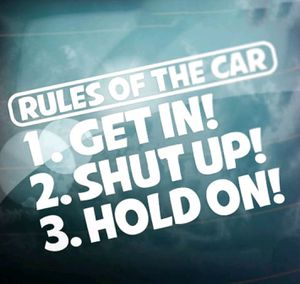"""JDM """"Rules of the car"""" decal for Sale in DORCHESTR CTR, MA"""