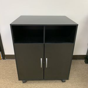 Printer Stand With Organizer Storage, Black. for Sale in Norcross, GA