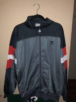 Adidas vintage light track jacket size XL men for Sale in Dallas, TX