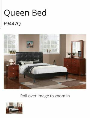 BRAND NEW QUEEN BEDROOM SET INCLUDES BED FRAME DRESSER MIRROR AND NIGHTSTAND ADD MATTRESS for Sale in Riverside, CA