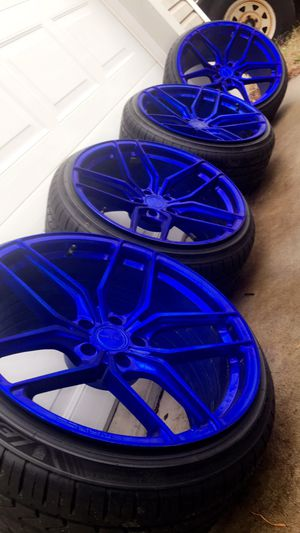 Staggered 20 inch stance wheels brand new tires for Sale in Millersville, MD